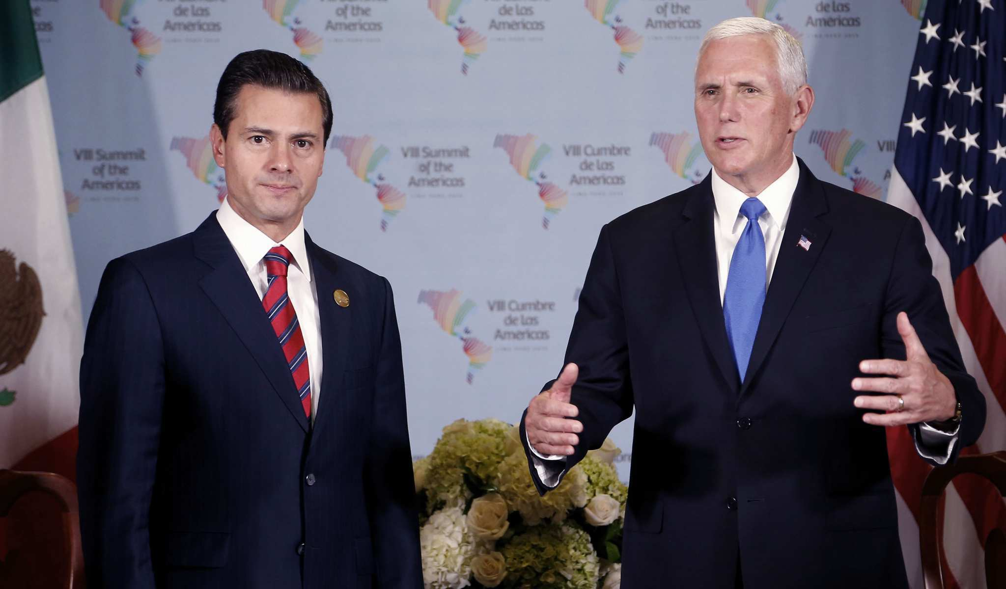 EPN y Mike Pence.