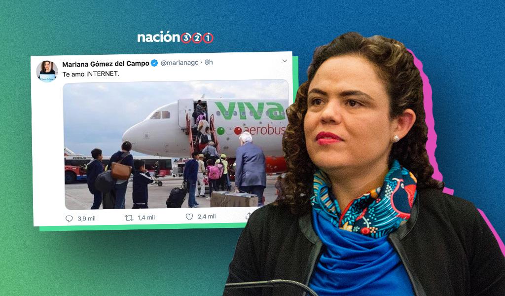 Tunden en redes a Mariana Gómez del Campo por meme de AMLO
