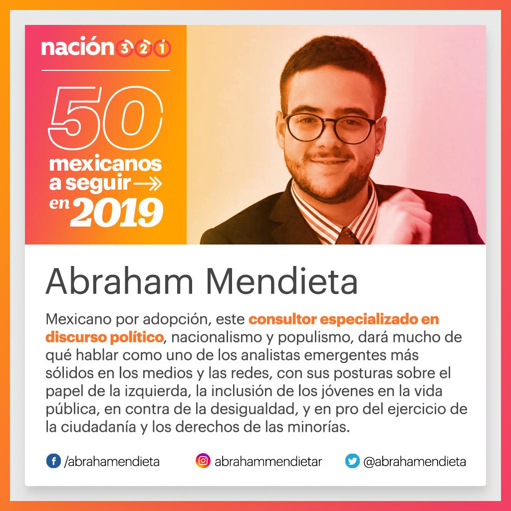 Los 50 mexicanos a seguir en 2019 824f3987931